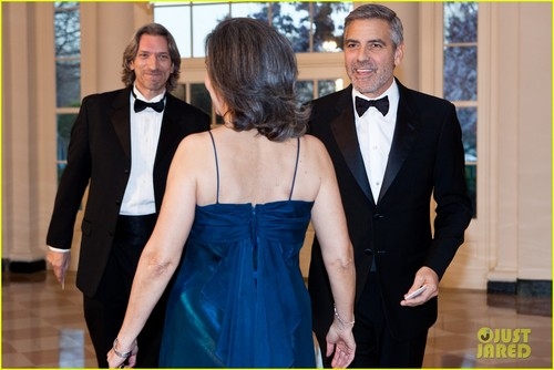 George Clooney: White House Visit