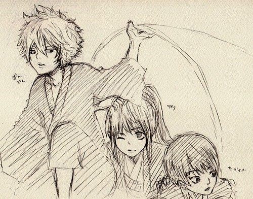 Gintoki, Takasugi & Katsura <3