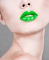 Green Lips - lips photo