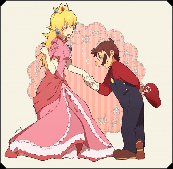 Mario And Peach Images Hand In Hand Wallpaper And
