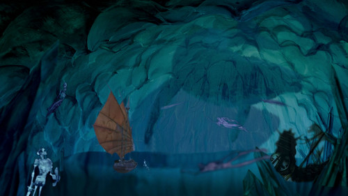 disney crossover wallpaper called Haunted Subterranean Ice Cave
