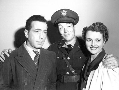 Humphrey Bogart, Lt. John Huston &amp; Mary Astor  - classic-movies Photo