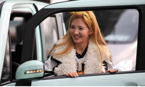 Hyoyeon on KBS Invincible Youth S2 Shooting