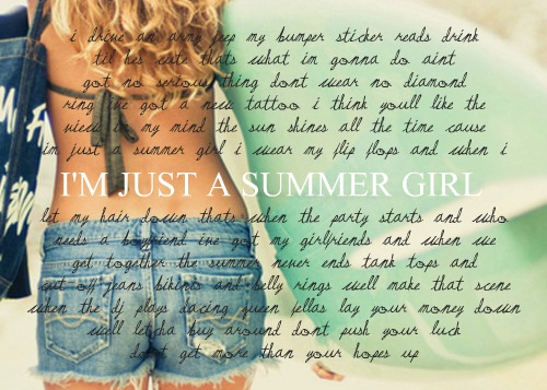 I'M JUST A SUMMER GIRL