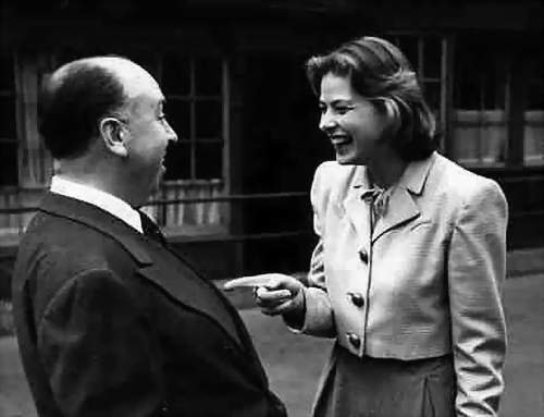 Classic Movies images Ingrid Bergman & Alfred Hitchcock wallpaper and background photos