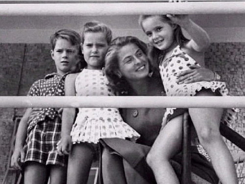 Ingrid Bergman with her children
