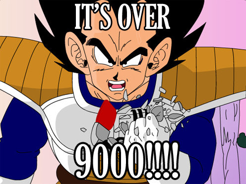 Image result for vegeta over 9000