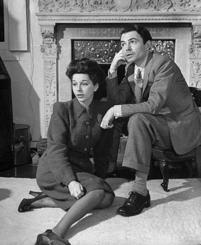 James Mason wallpaper with a business suit called James Mason & wife Pamela