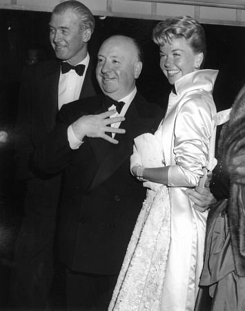 James Stewart, Alfred Hitchcock & Doris dia