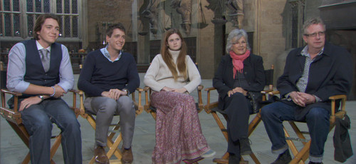 James e Oliver Phelps, Bonnie Wright, Julie Walters, Mark Williams