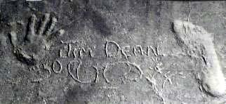 James hand and foot print on uncles farm