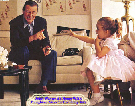 John Wayne images John Wayne with daughter Aissa wallpaper and background photos
