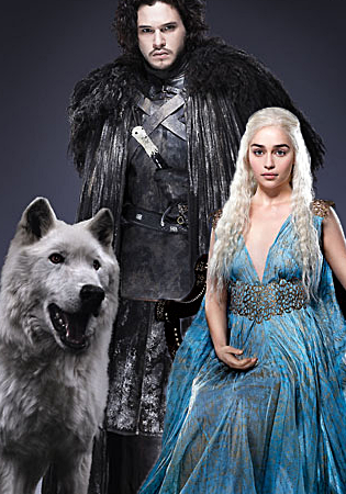Game of Thrones karatasi la kupamba ukuta entitled Jon/Daenerys