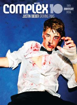 Justin Bieber Complex 10 photoshoot.