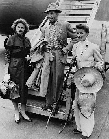 Lauren Bacall, Humphrey Bogart & Katharine Hepburn