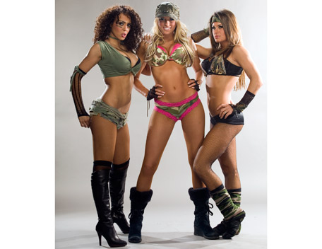 WWE 레일라 바탕화면 with a bikini called Layla Photoshoot Flashback