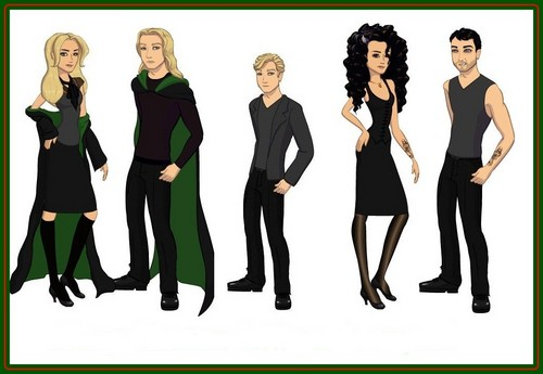 Lestrange and Malfoy family dolls