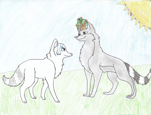 Lexii & Julien as loups ^^