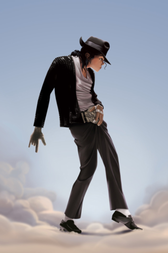 마이클 잭슨의 로봇 댄스 바탕화면 possibly containing a fedora, a well dressed person, and a hip boot entitled MJ