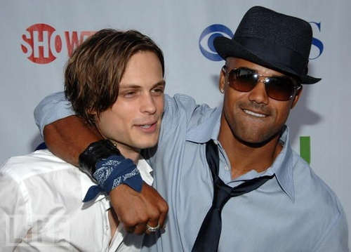 actores más guapos fondo de pantalla with a boater entitled Matthew Gray Gubler and Shemar Moore