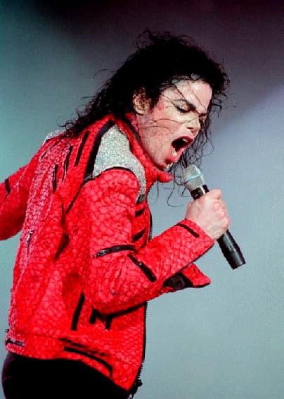 Michael jackson red military jacket