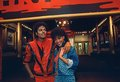 "Michael Jackson and Ola Ray ""Thriller"" set - michael-jackson photo"