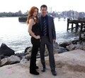Poppy Montgomery and Dylan Walsh - unforgettable photo