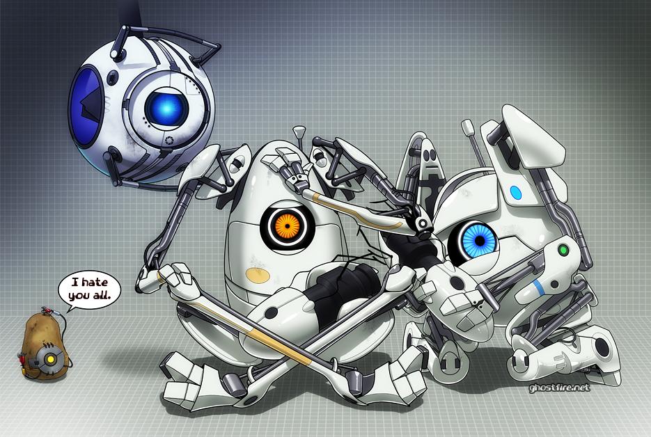 Portal 2 Bots Portal 2 Fan Art 29857666 Fanpop