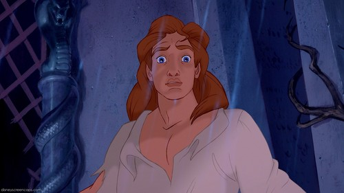 Disney Prince karatasi la kupamba ukuta possibly with a chainlink fence called Prince Adam (The Beast)