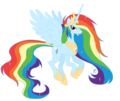 Princess Rainbow Dash - my-little-pony-friendship-is-magic fan art