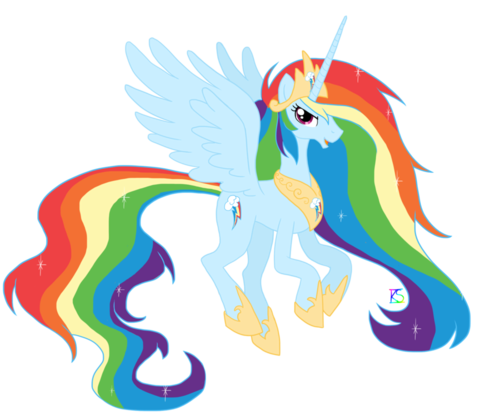 Princess pelangi, rainbow Dash