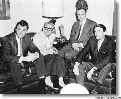 phim cổ điển hình nền with a business suit, a well dressed person, and a suit entitled Rock Hudson, Cary Grant, Marlon Brando & Gregory Peck