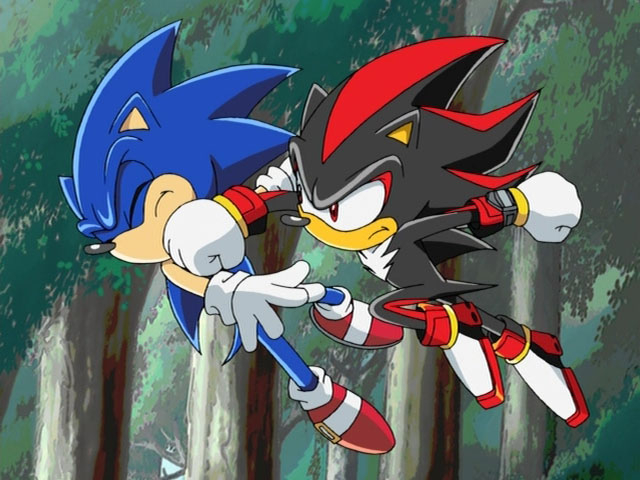 Shadow the hedgehog sonic this is what you get for saying i wear make