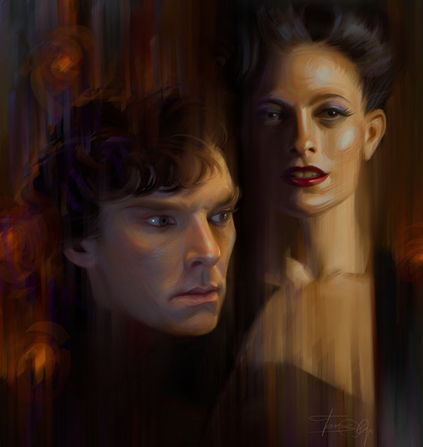 Sherlock and Irene - benedict-cumberbatch Fan Art