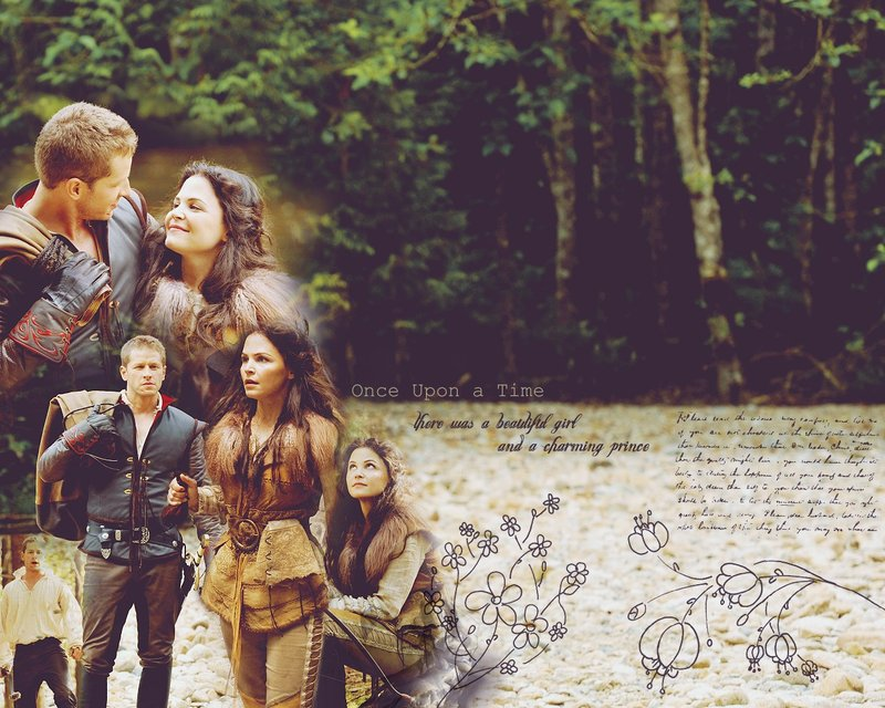 once upon a time snow and charming first meet