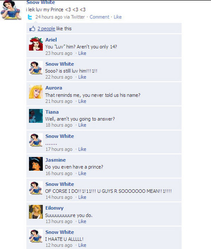 Snow White's Facebook