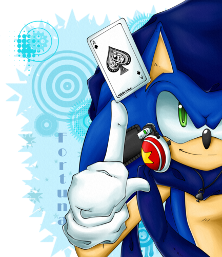 Sonic the Hedgehog wallpaper containing Anime called Sonic Fortuna