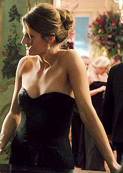 Stana Katic achtergrond possibly containing a bustier, a leotard, and tights entitled Stana <33