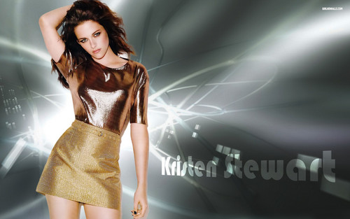 Kristen Stewart wallpaper with a cocktail dress titled Stewart