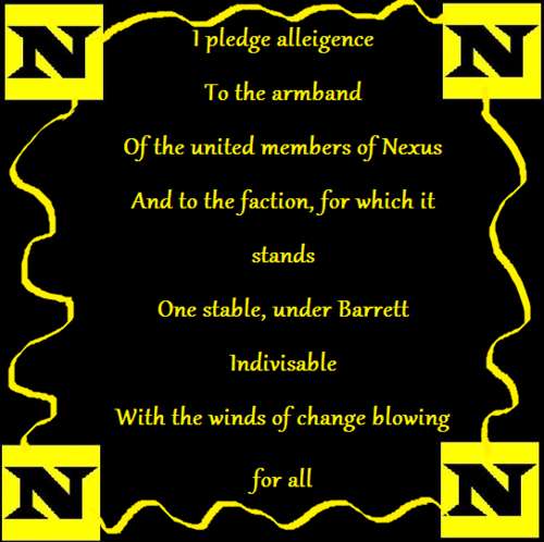 The Nexus Pledge of Allegiance