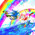The colorful world we live in - sonic-and-amy fan art