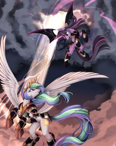 Twilight vs. Celestia