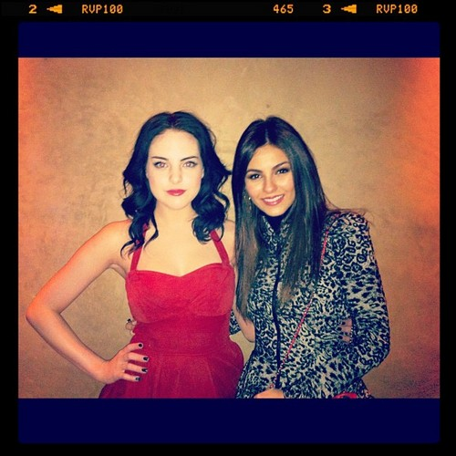 Victoria Justice and Liz Gillies at the Mirror Mirror After Party