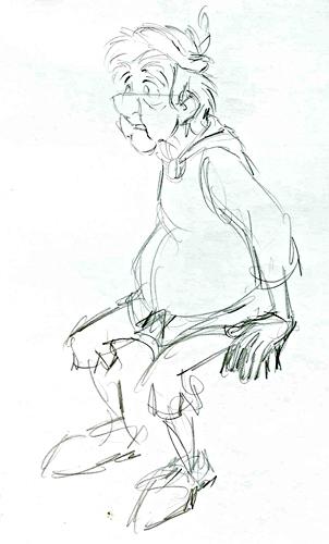 Walt disney Sketches - Fflewddur Fflam