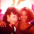 Whitney Houston With Video Director Brian Grant 1985