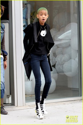 Willow Smith: Heelless Booties In NYC