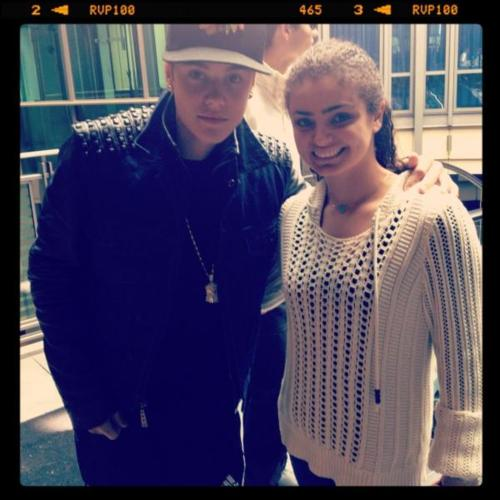 bieber with a fan today