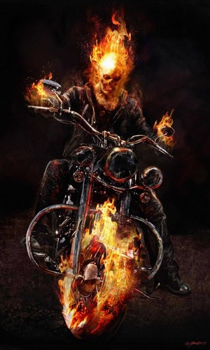 Ghost Rider wallpaper with a fire entitled ghost rider