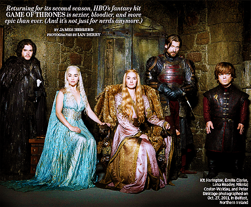 Game of Thrones- EW artikulo Scan