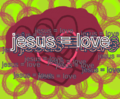 jesus = love - jesus fan art